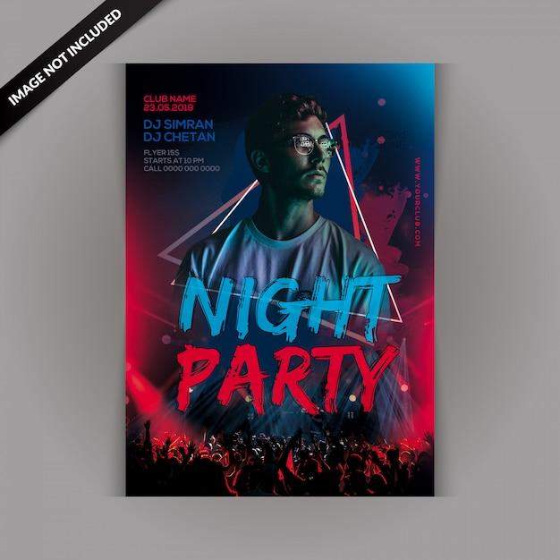 Panfleto de festa de noite dj Psd Premium
