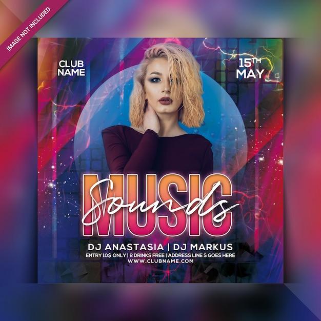 Panfleto de festa de som de música Psd Premium