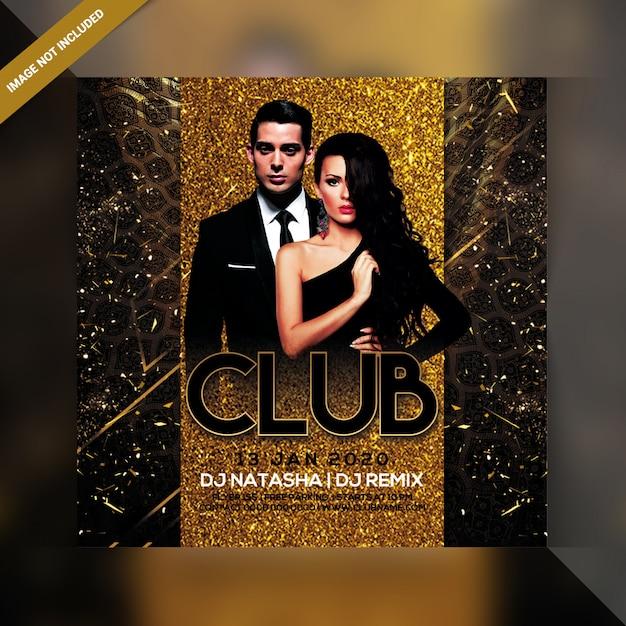 Panfleto de festa do clube Psd Premium