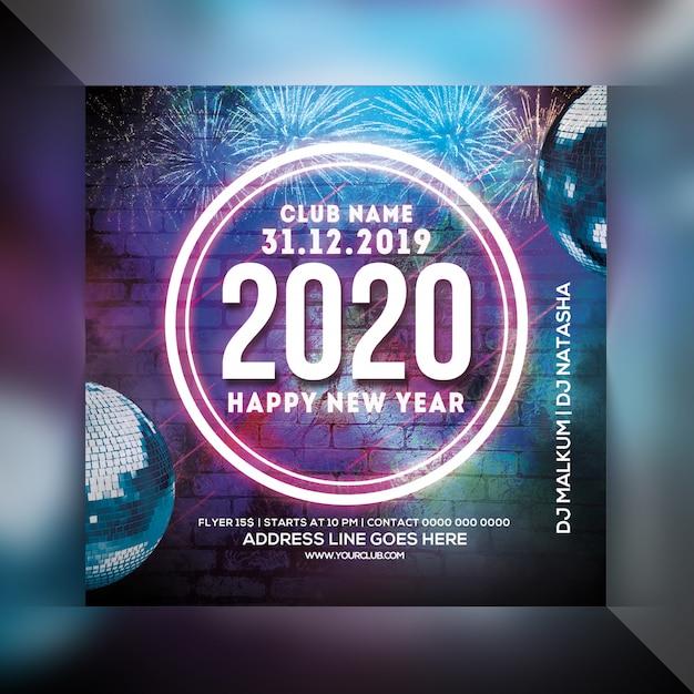 Panfleto de festa feliz ano novo Psd Premium