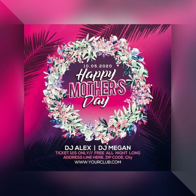 Panfleto de festa feliz dia das mães Psd Premium