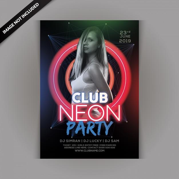 Panfleto de festa garota sexy Psd Premium