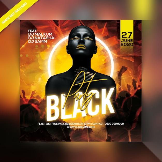 Panfleto de festa preto Psd Premium