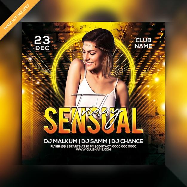 Panfleto de festa sexta-feira sensual Psd Premium