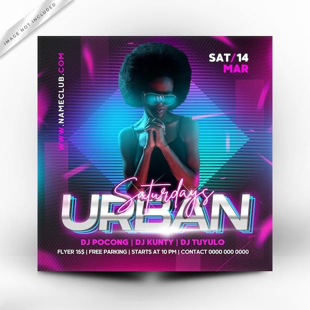 Panfleto de festa urbana ou modelo de cartaz Psd Premium