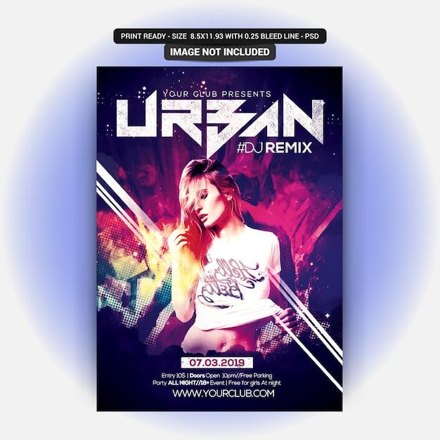 Panfleto de festa urbana Psd Premium