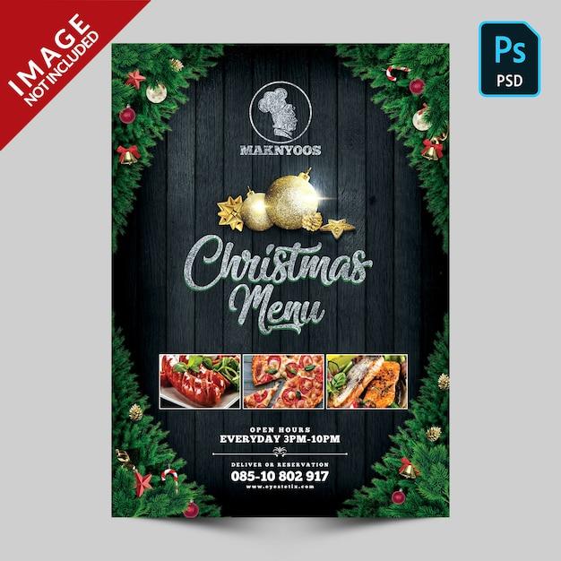 Panfleto de jantar de natal Psd Premium