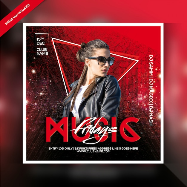 Panfleto dj party Psd Premium