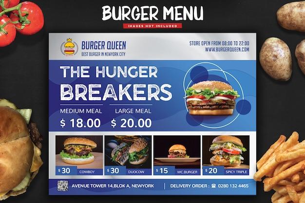 Panfleto do menu do fast food Psd Premium