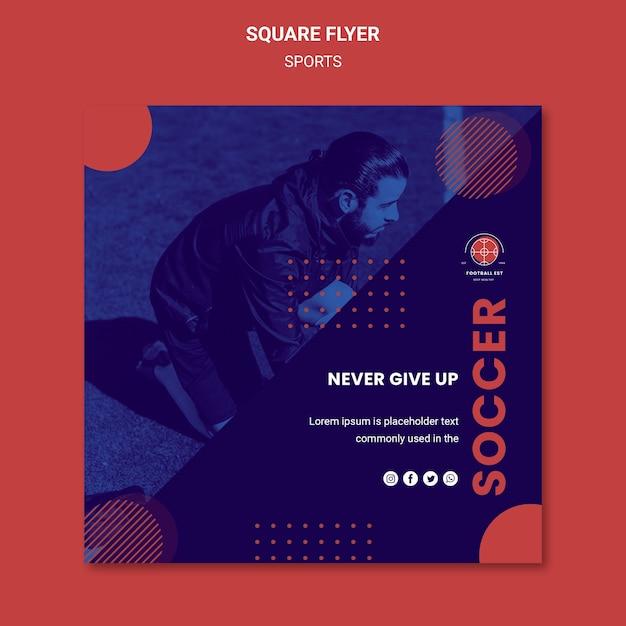 Panfleto quadrado de jogador de futebol Psd grátis
