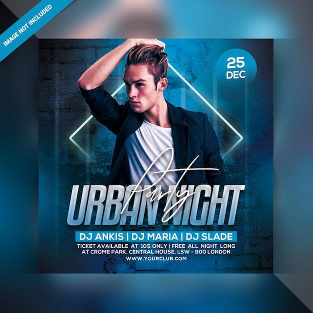 Panfleto urbano do partido da noite Psd Premium
