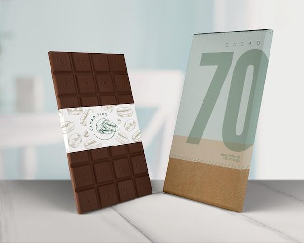 Papel de embrulho de chocolate Psd grátis