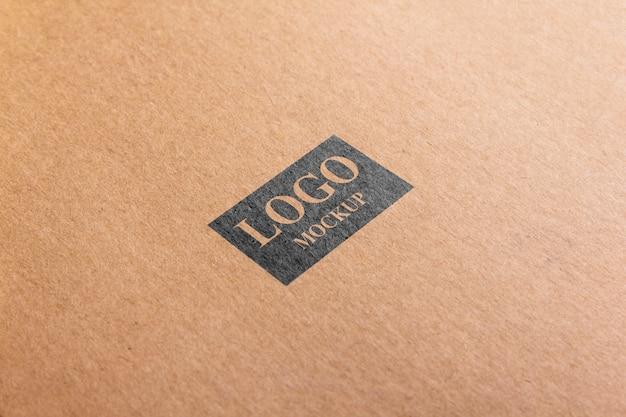 Papel de maquete marrom logotipo psd. Psd Premium