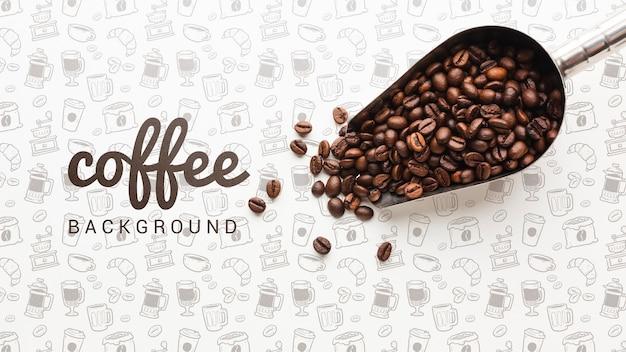Papel de parede simples com grãos de café Psd Premium