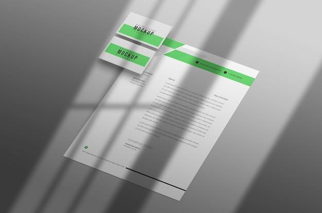 Papel timbrado com modelo de cartão de visita psd Psd grátis