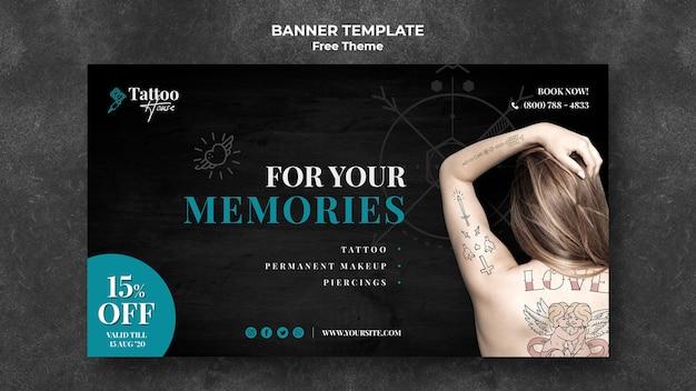 Para o seu modelo de banner de tatuagem de memórias Psd grátis