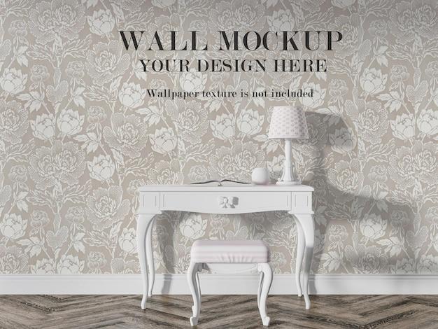 Parede interior vintage para suas ideias de design Psd Premium