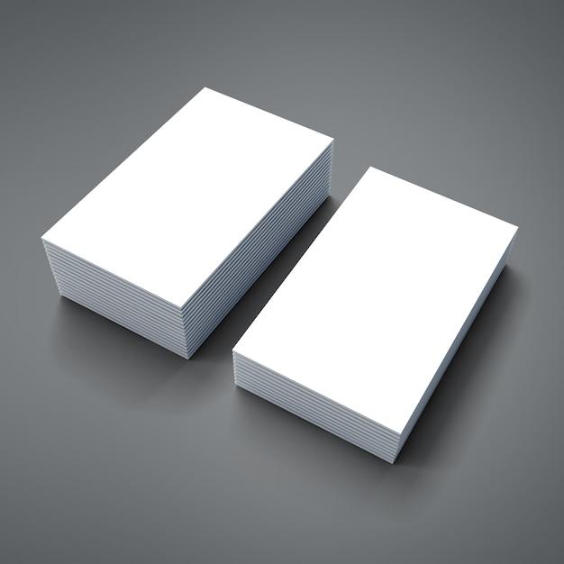 Pilha 3d de cartões vazios Psd Premium