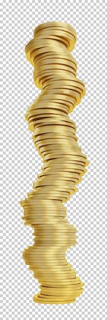 Pilha de moedas de ouro 3d Psd Premium