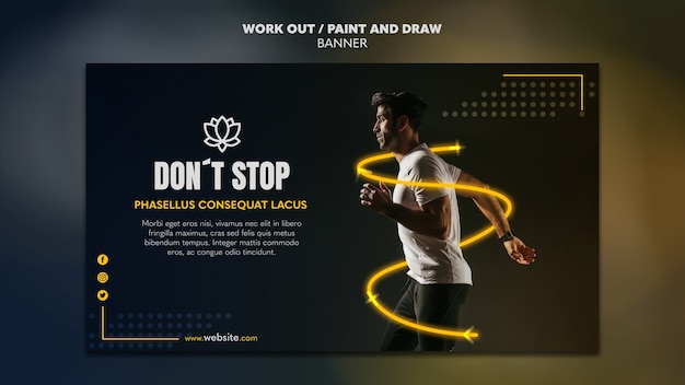 Pintar e desenhar elaborar o conceito de modelo de banner Psd grátis