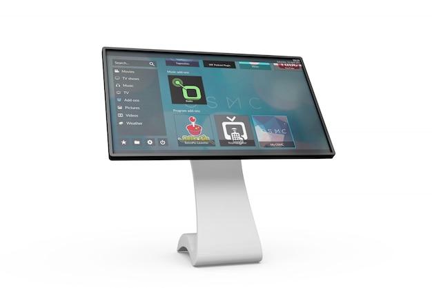 Placa de informação touchscreen maquete Psd grátis
