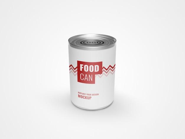 Pode maquete de alimentos de embalagem Psd Premium