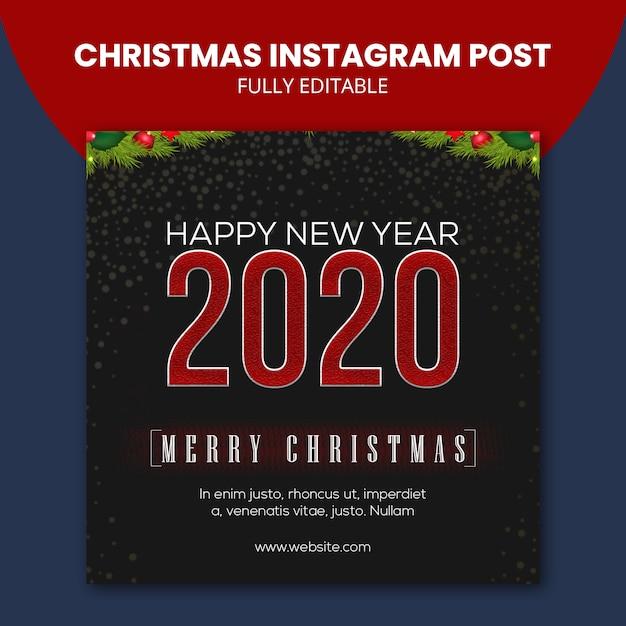 Post de instagram de natal Psd Premium