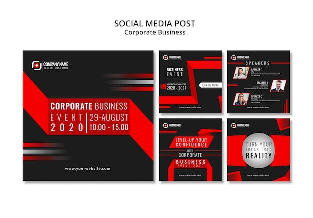 Post de instagram de negócios abstratos Psd grátis