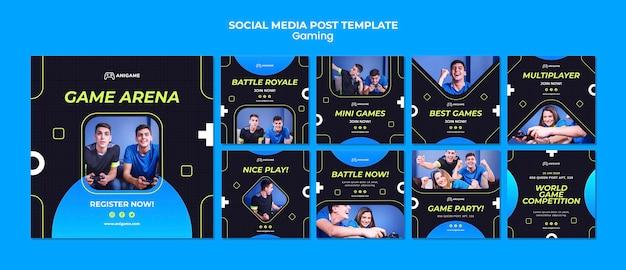 Post de mídia social do conceito de jogo Psd grátis