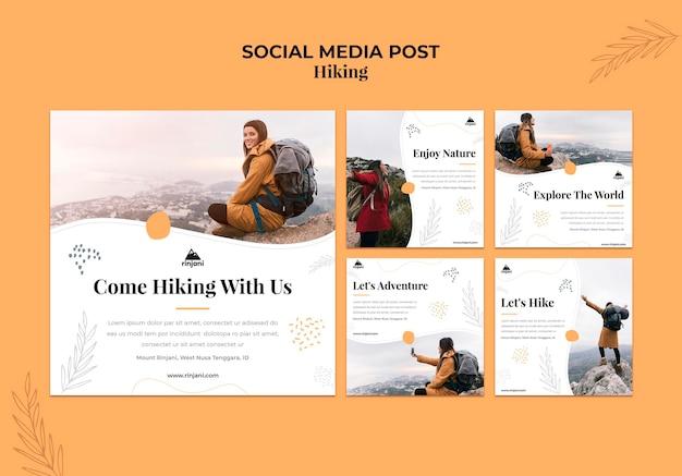 Postagem de aventura na mídia social Psd Premium