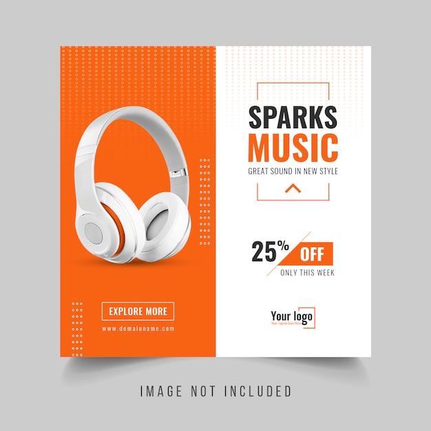 Postagem em banner promocional de produto de mídia social Psd Premium