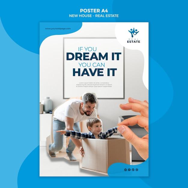 Pôster de imóveis de nova casa Psd Premium