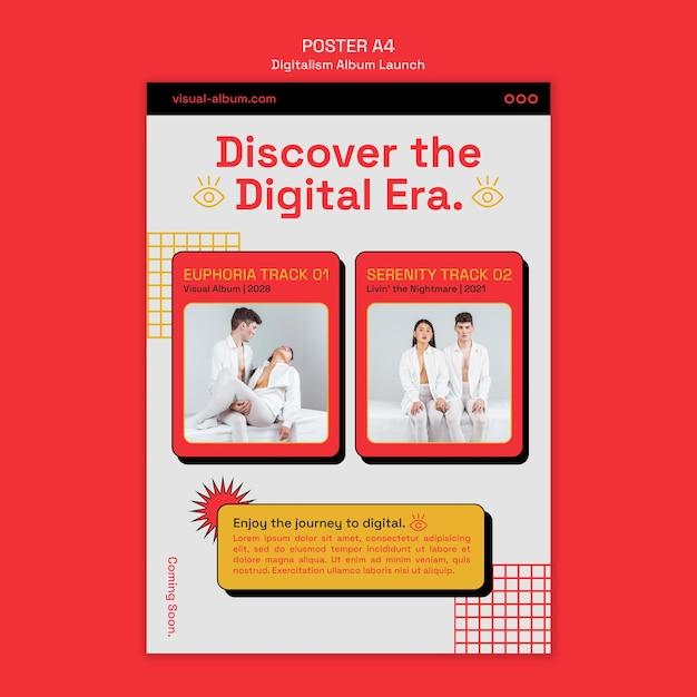 Pôster de lançamento de álbum com foto Psd Premium