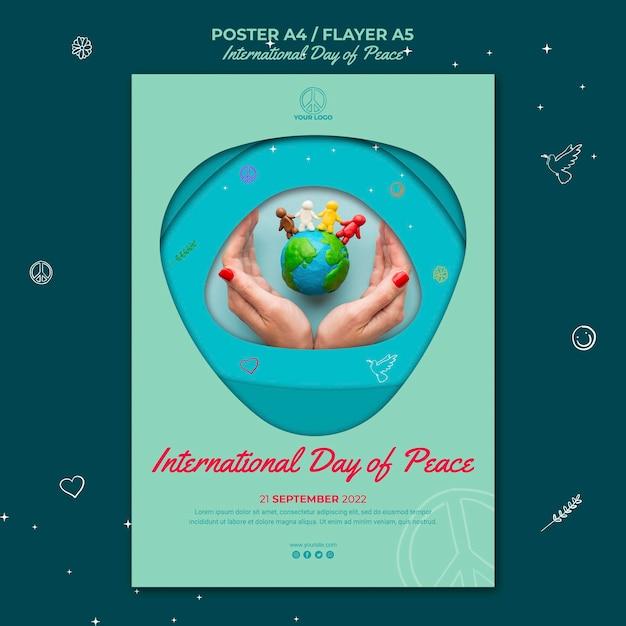 Pôster do dia internacional da paz Psd grátis