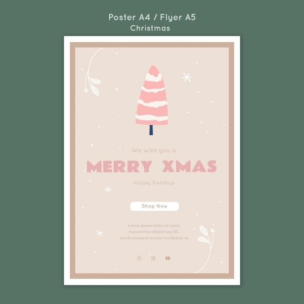 Poster modelo de feliz natal Psd grátis