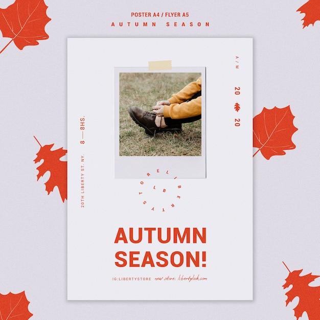 Pôster para a nova coleção de roupas de outono Psd grátis