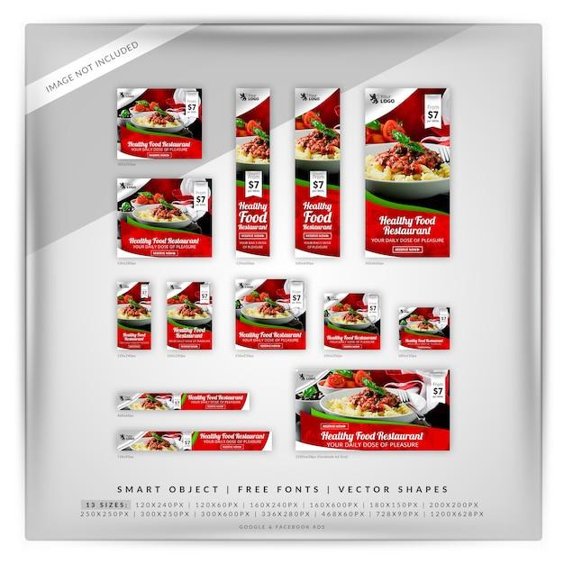 Prazer food google e anúncios do facebook Psd Premium