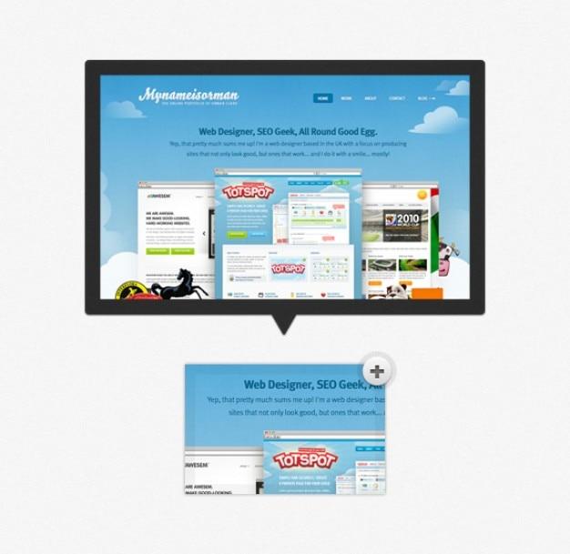 Pré-visualização tooltip simple image (psd) Psd grátis