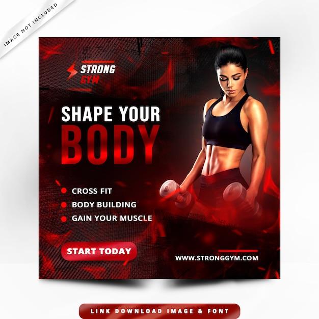 Premium de panfleto de fitness Psd Premium