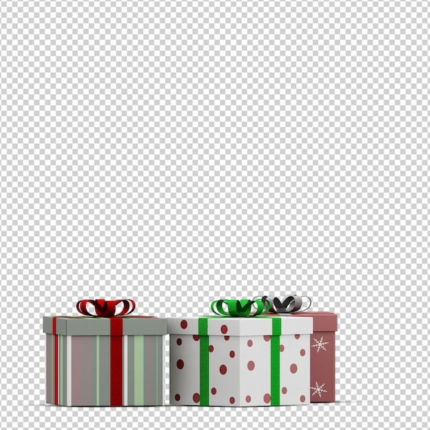 Presentes de natal Psd Premium