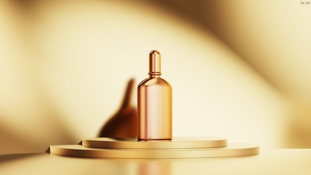 Produto de luxo no pódio de ouro. Psd Premium
