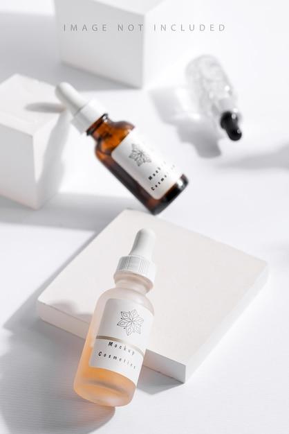 Produtos cosméticos de beleza natural para a pele Psd Premium