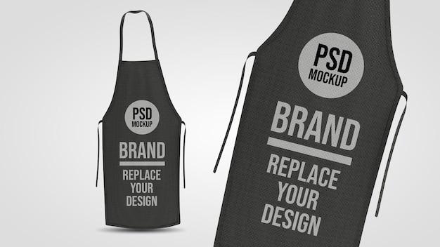 Projeto da maquete de renderização 3d do avental Psd Premium