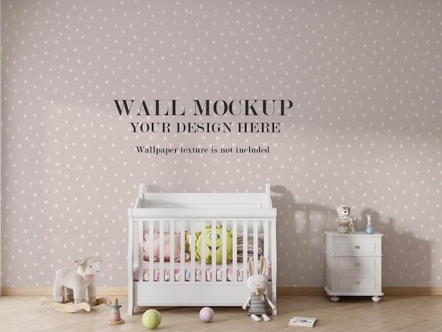 Projeto da maquete do papel de parede do quarto infantil Psd Premium