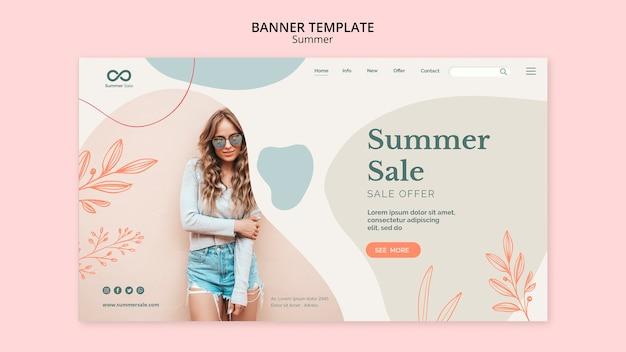 Projeto de banner de coleção de verão Psd grátis