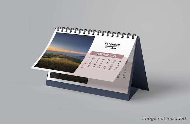 Projeto de maquete de calendário de mesa isolado Psd Premium