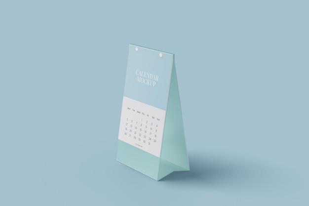Projeto de maquete de calendário de mesa vertical Psd Premium
