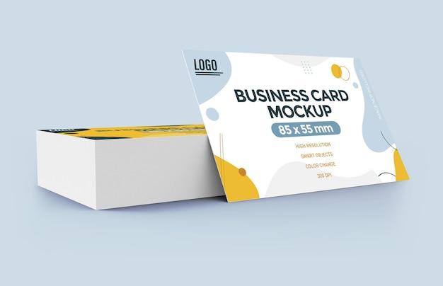 Projeto de maquete de cartão de visita plana isolado Psd Premium