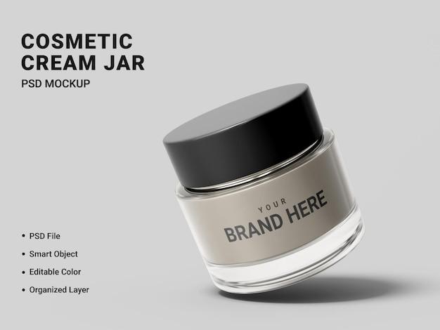 Projeto de maquete de frasco de creme cosmético isolado Psd Premium