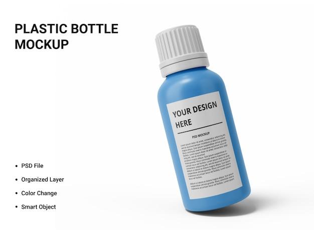 Projeto de maquete de garrafa de plástico isolado Psd Premium